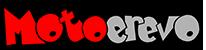 Motoerevo Logo oder Schriftzug in roter und grauer Schrift