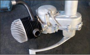 Wideframe Motor von einer GS3 nach der Montage in neuwertigem Zustand