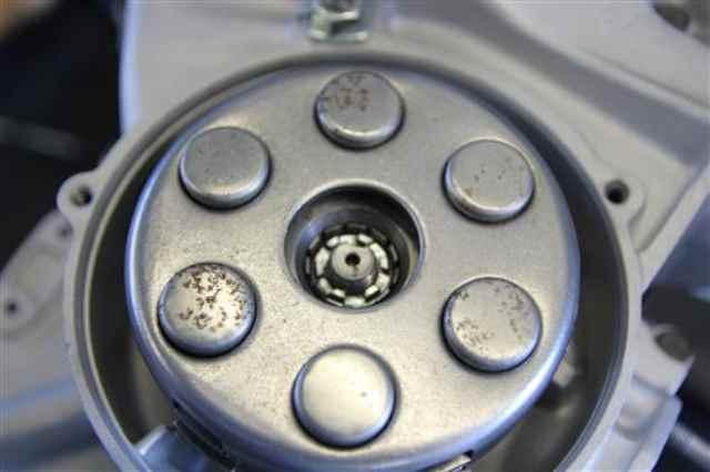 Kupplung eingebaut mit neuer Verschraubung vespa px 125