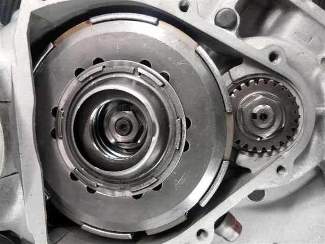 Kupplungspaket, noch in eingebautem Zustand an einem PK 50 Motor