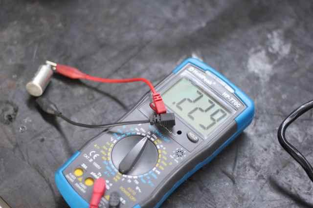 Kapazität gemessen an einem neuen Simson Kondensator