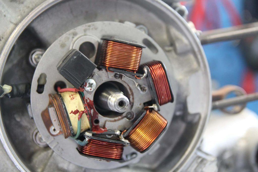 Zündgrundplatte mit Pickup Vespa PX