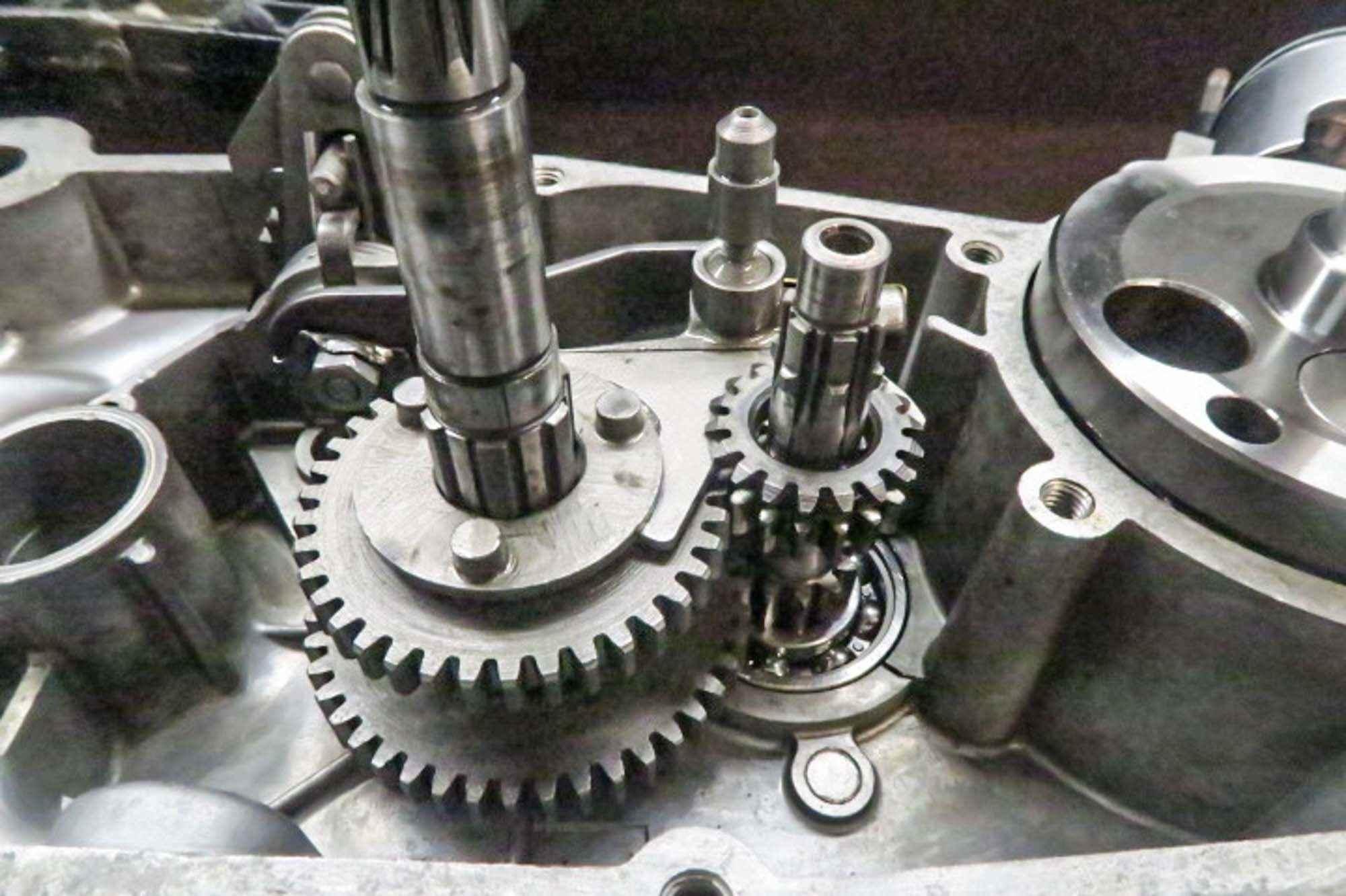 Getriebe teilweise montiert Schwalbe Motor