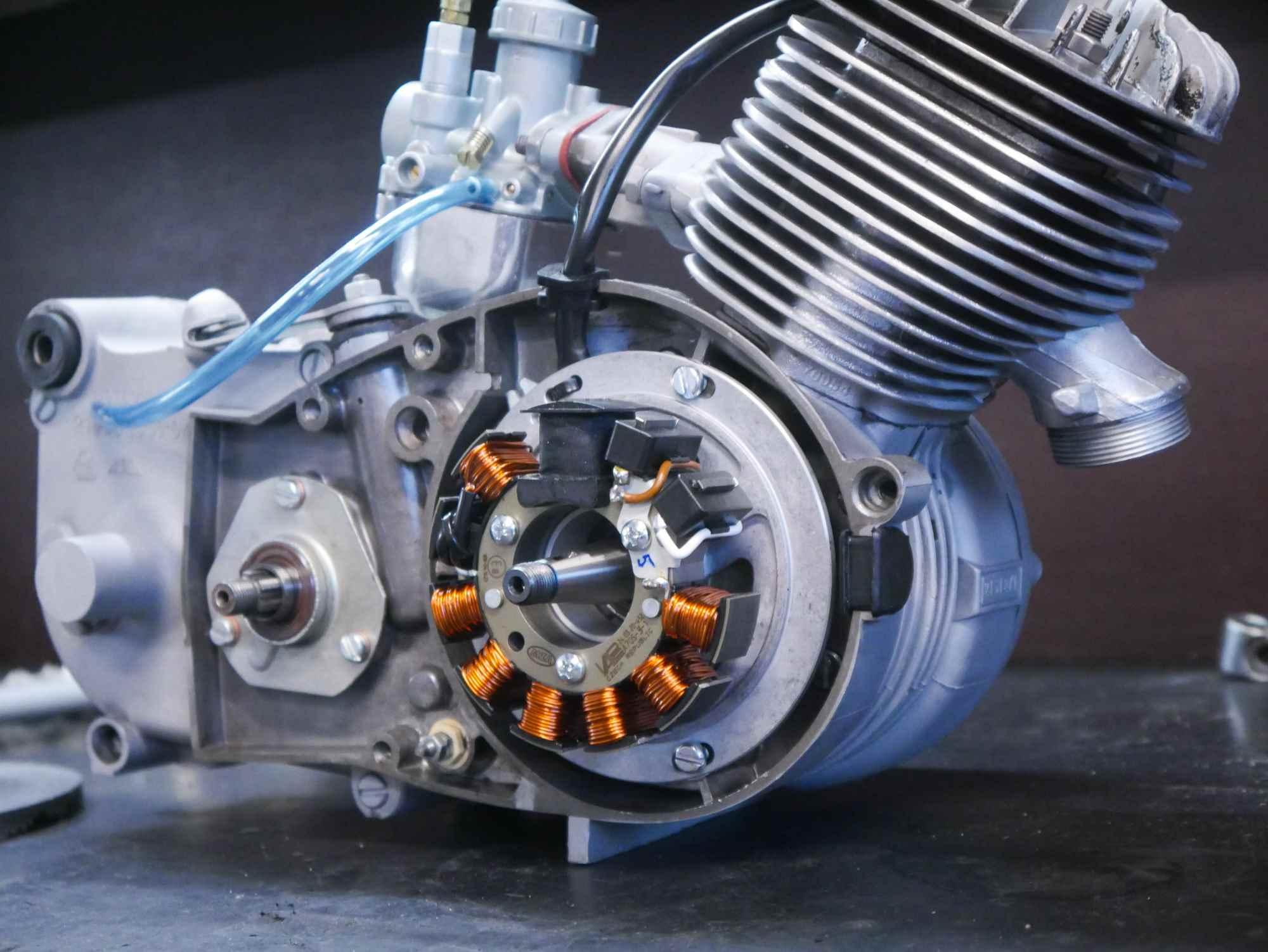 M53 Motor mit Vape Zündung frisch revidiert