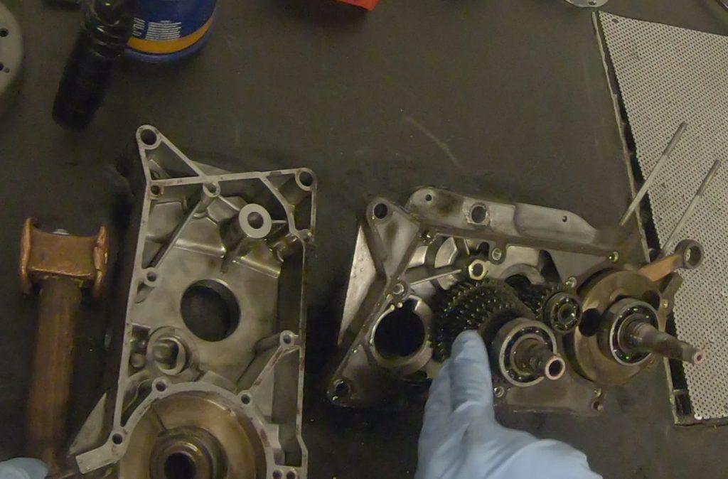 Motor gespalten S51 mit Getriebe