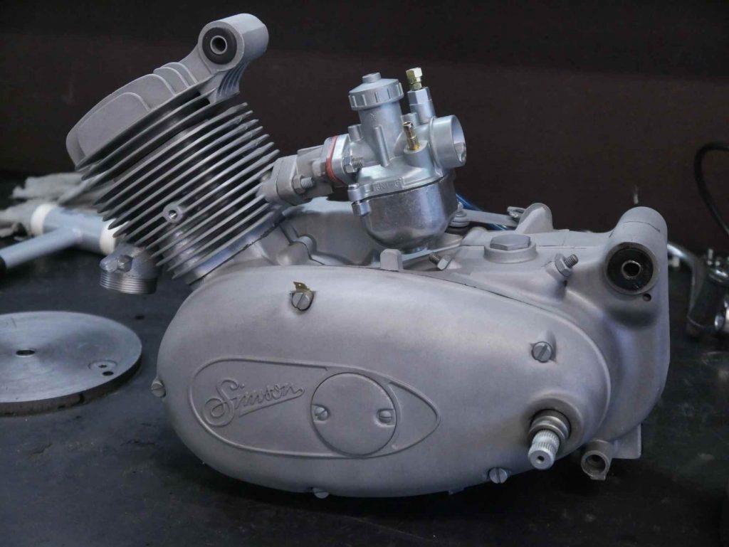Motorrevision Simson M53 Schwalbe mit Glasperlstrahlen