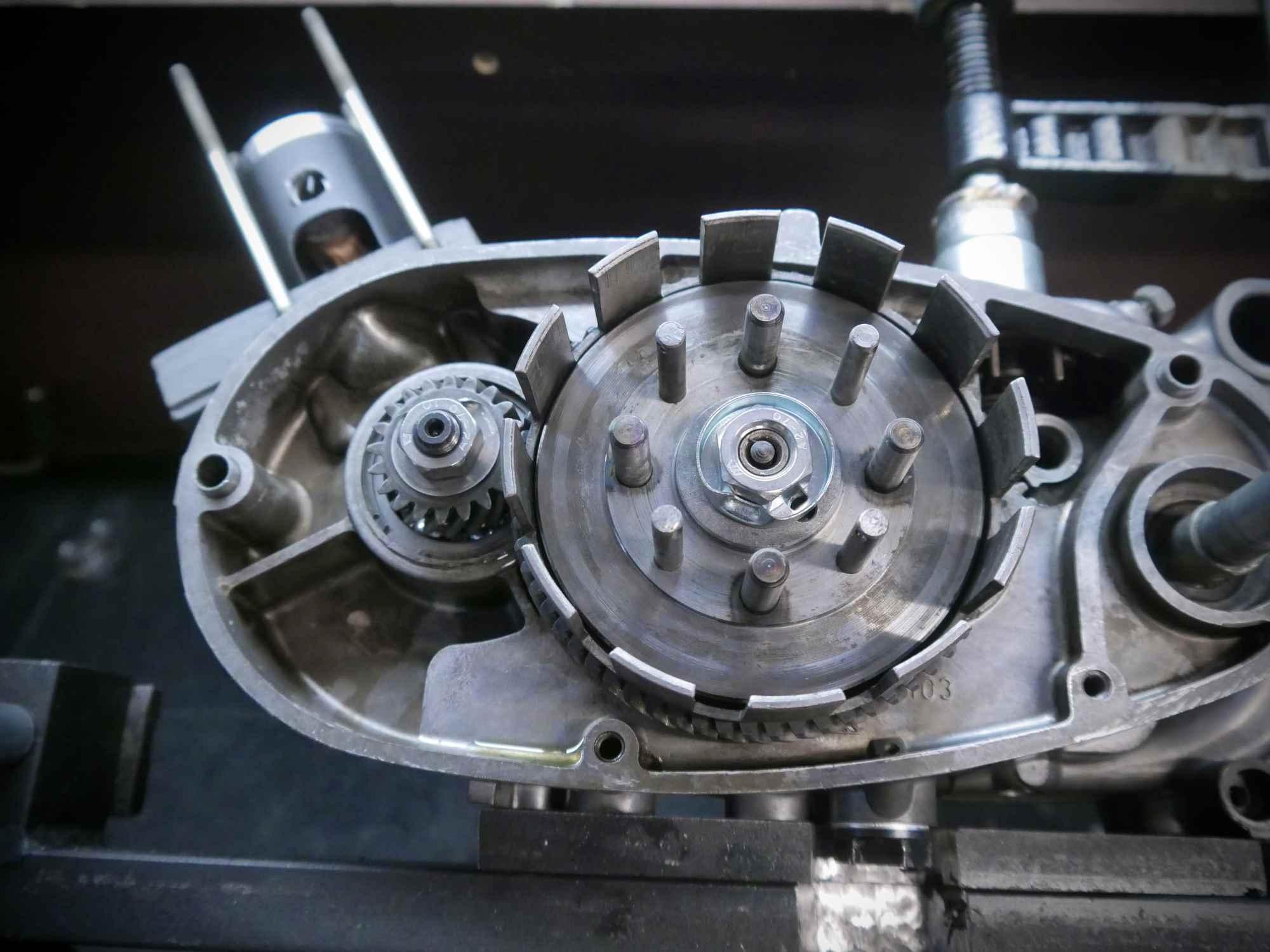 Simson M53 Motor Primärtrieb und Kupplungskorb