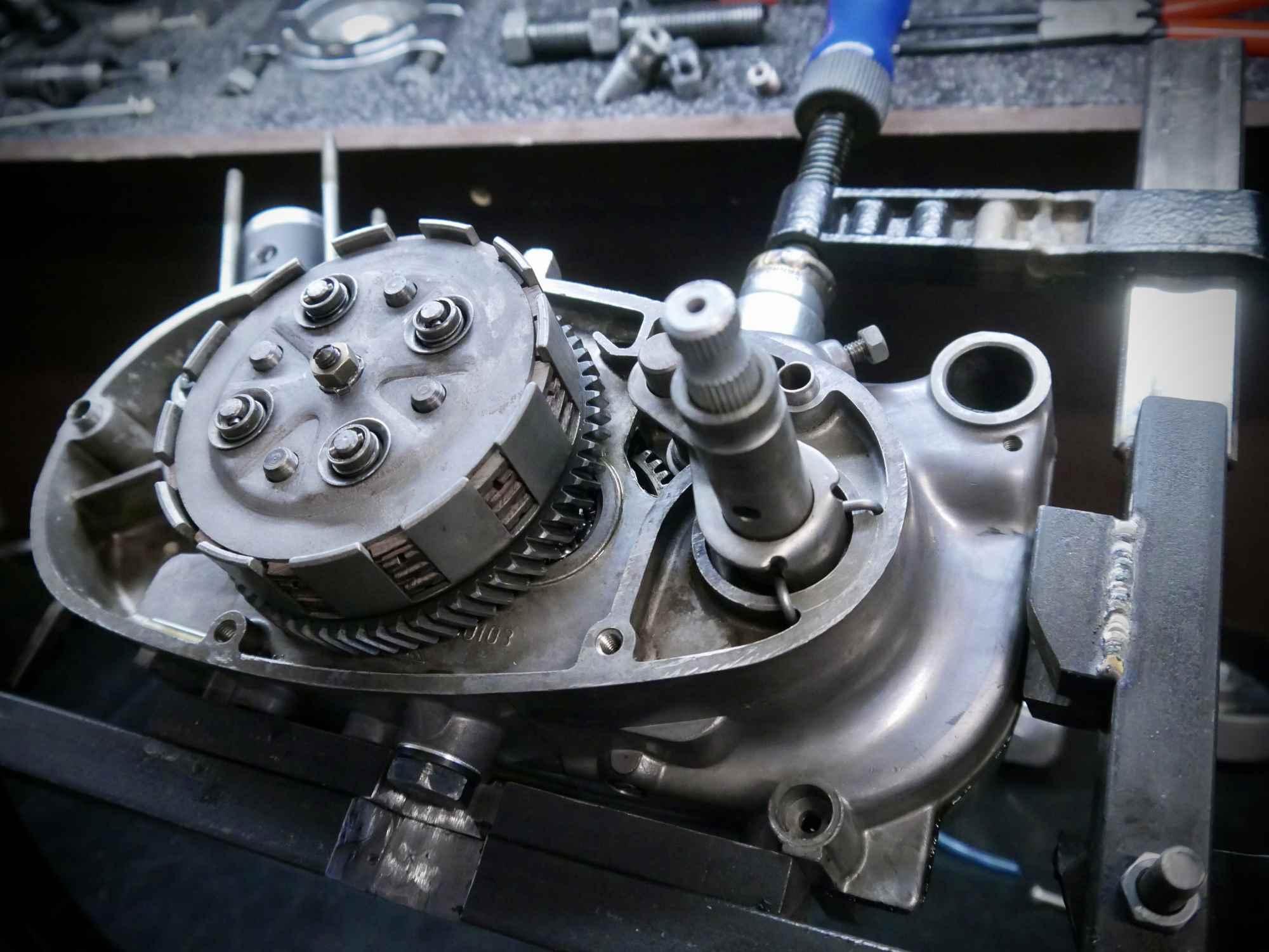 Simson M54 Motor mit Kupplung und Schaltwelle