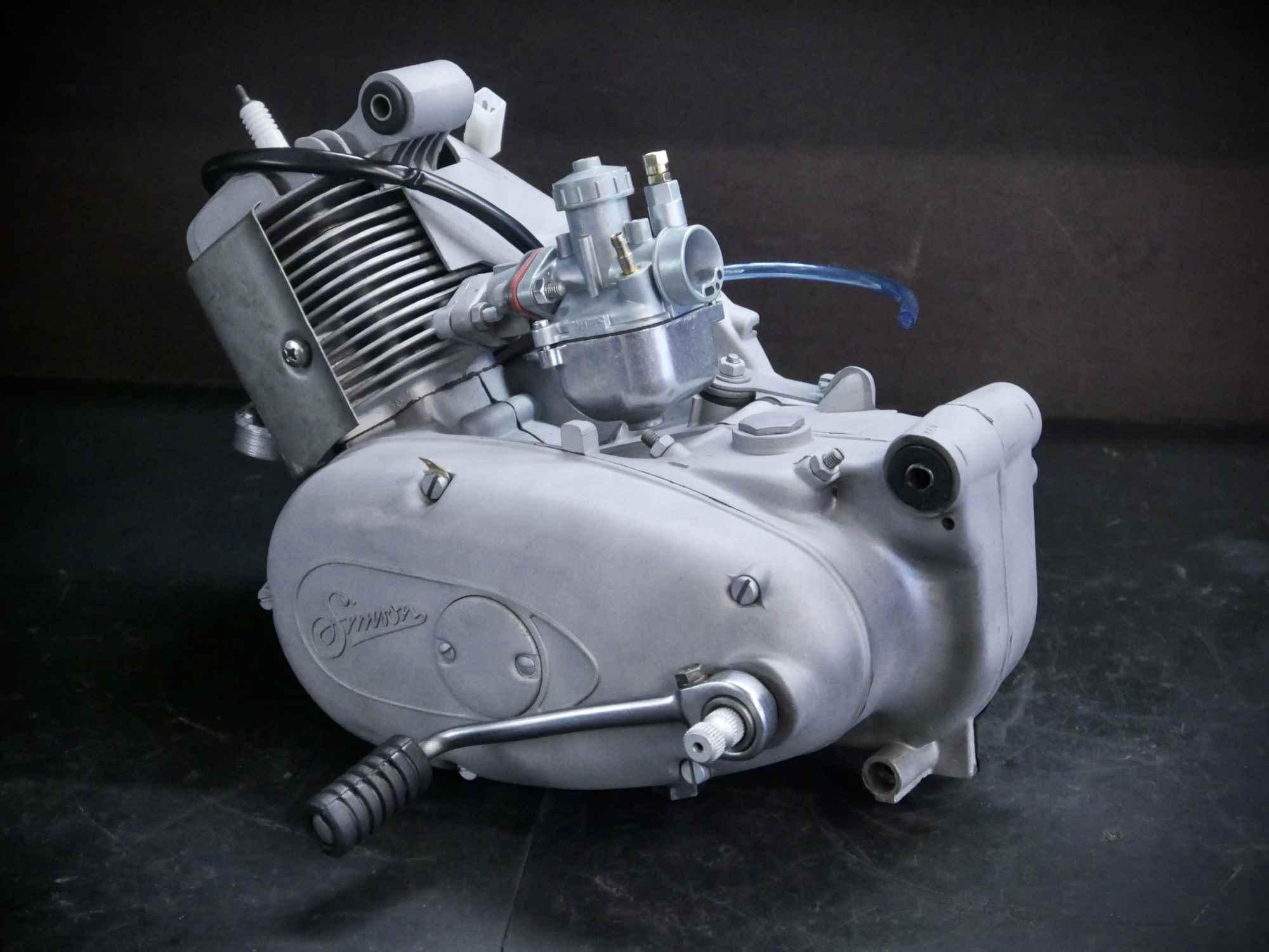 Simson Motor nach Regeneration und Glasperlstrahlen