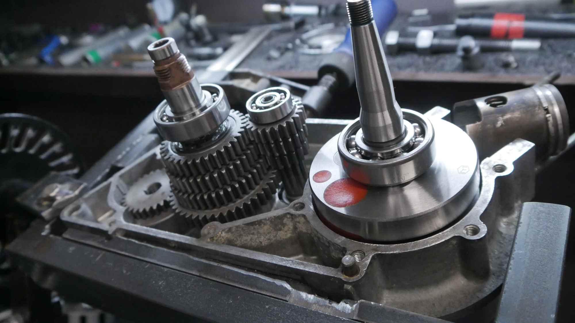 Simson S51 Motor mit Tuning Kurblwelle während Revision