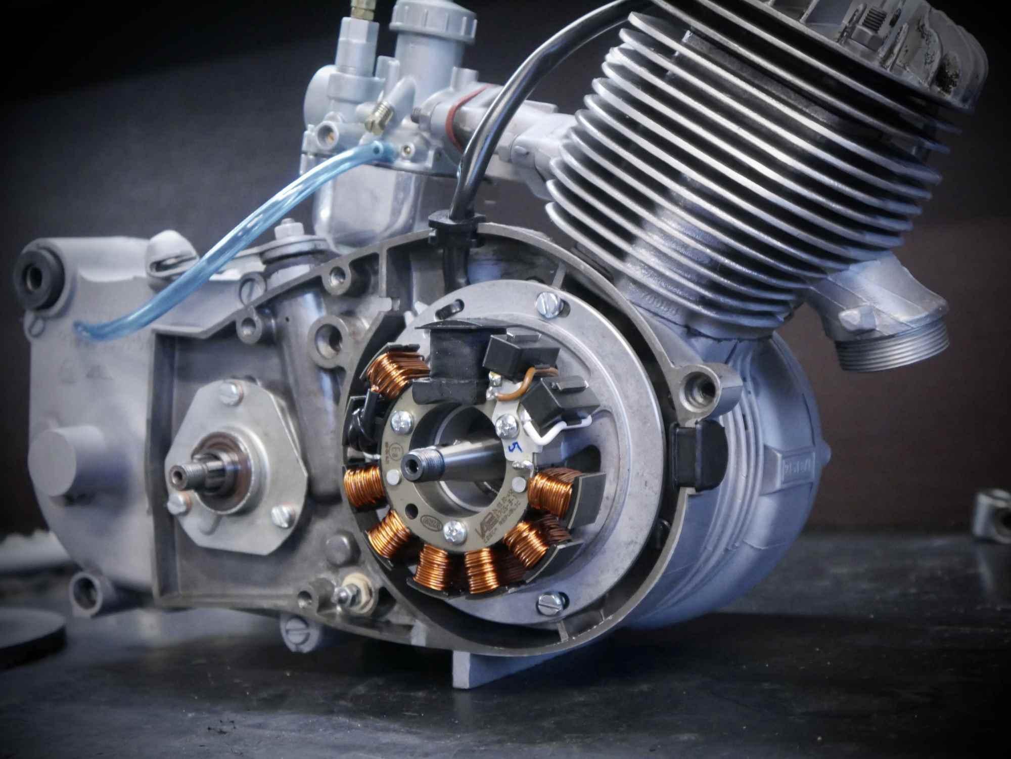 Simson Schwalbe Habicht Motor mit neuer Vape Zündung
