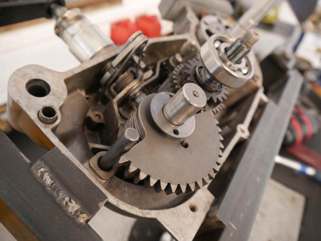 Simson Schwalbe Motor Getriebe offen
