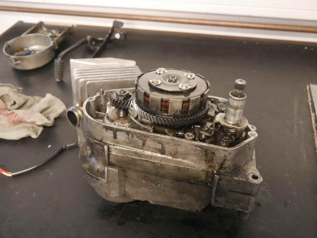 Simson Schwalbe Motor ohne Kupplungsdeckel
