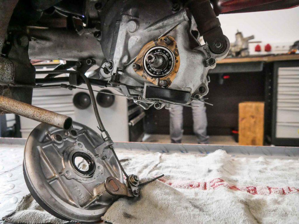V50 Motor ohne Bremsgrundplatte