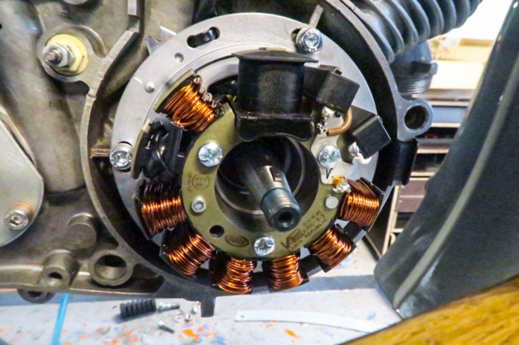 Vape Zündung Grundplatte am Simson Schwalbe Motor