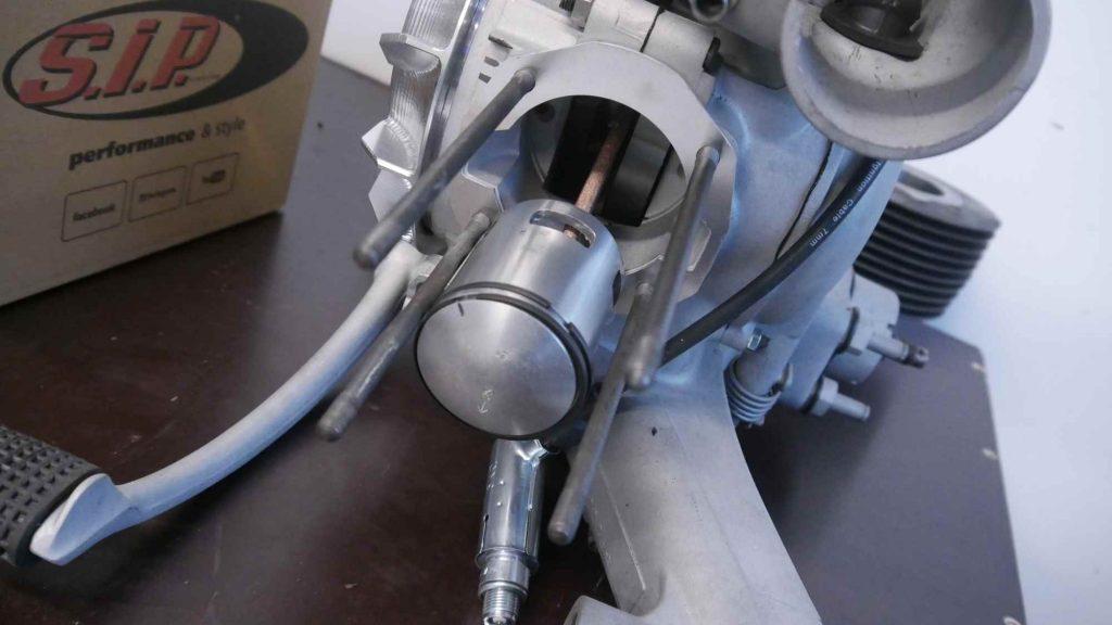 Vespa GTR 125 Motor mit Kolben