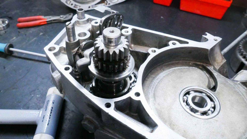 Getriebe im Motorgehäuse MZ RT 125