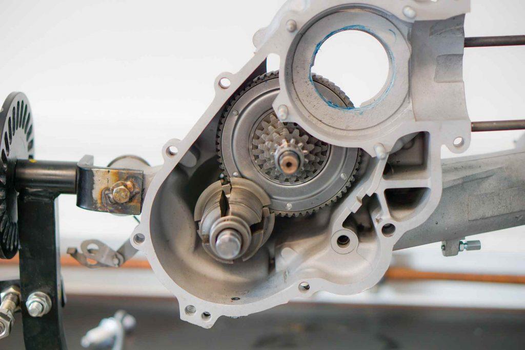 Getriebe teilweise montiert Vespa PX 200 Motorgehäuse