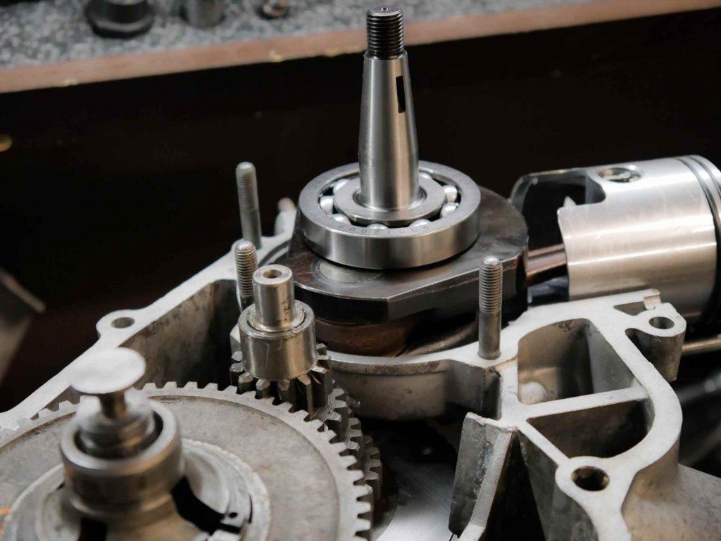 Getriebe und Kurbelwelle montiert Vespa VBB Motor