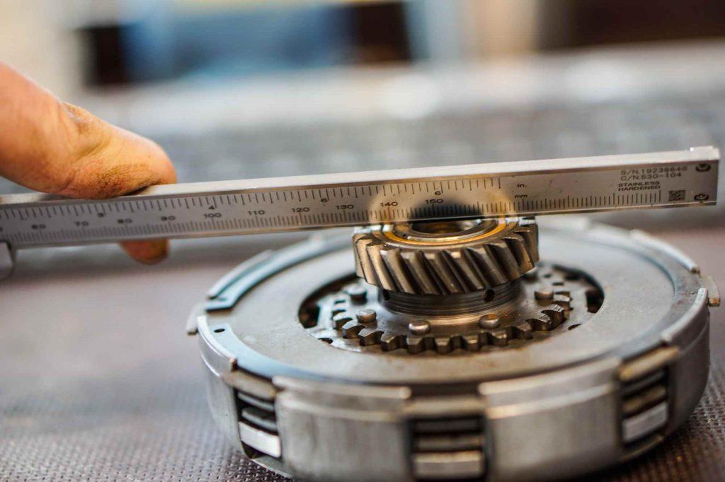 Kupplungspaket Vespa PX 200 revidiert während der Prüfung
