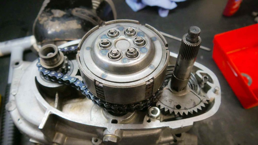 Motor offen MZ RT 125