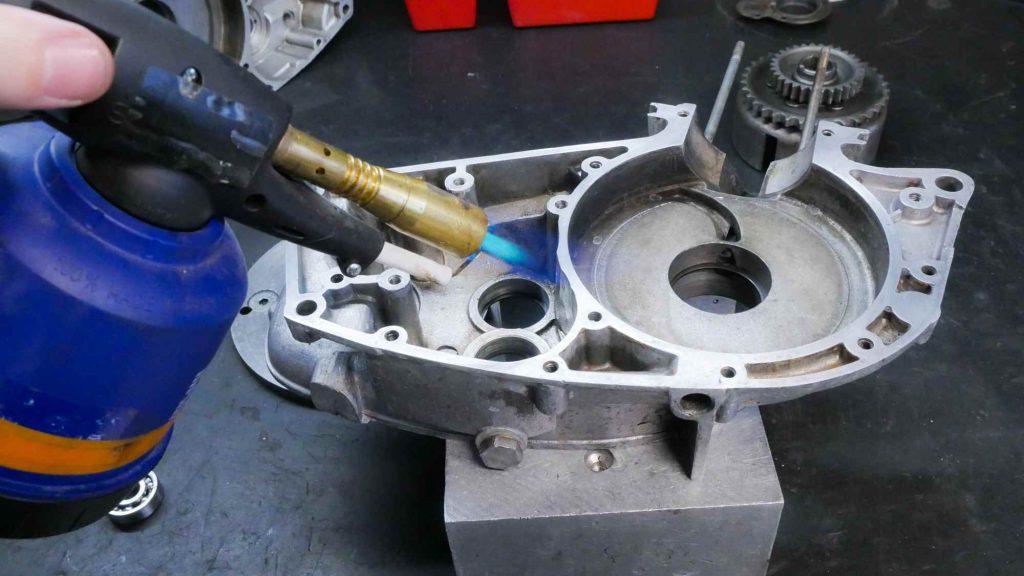 Motorgehäuse mit Brenner RT 125 MZ