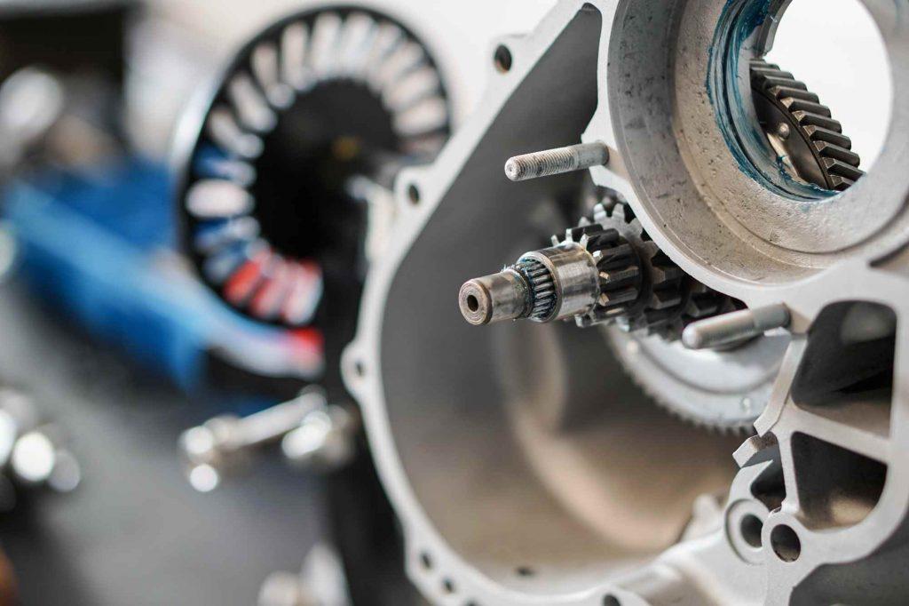 Nebenwelle in Motorgehäuse eingebaut Vespa PX 200