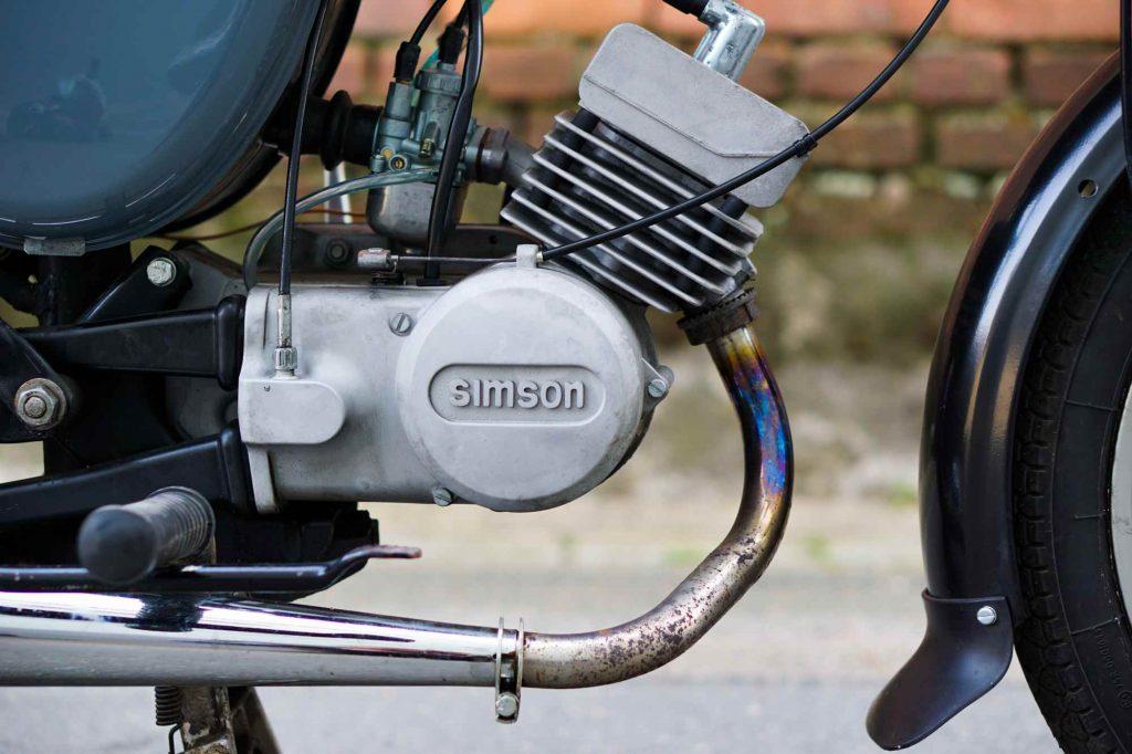 S51 Motor nach der Revision ins Fahrzeug eingebaut