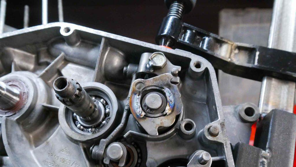 Schaltwalze und Schwenkhebel Simson S51 Motor
