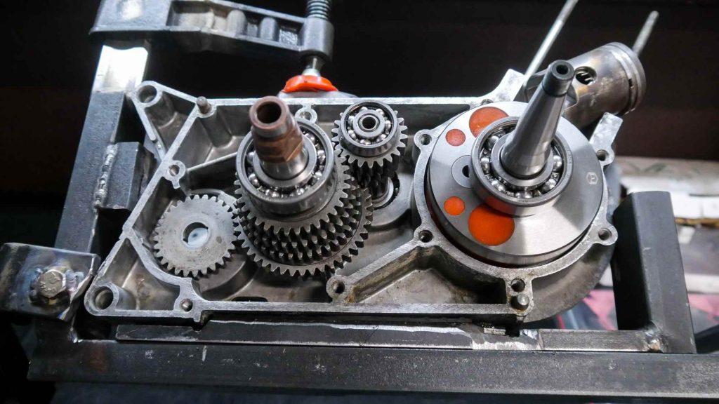 Simson Schwalbe KR51 2 Motor mit Getriebe und Kurbelwelle