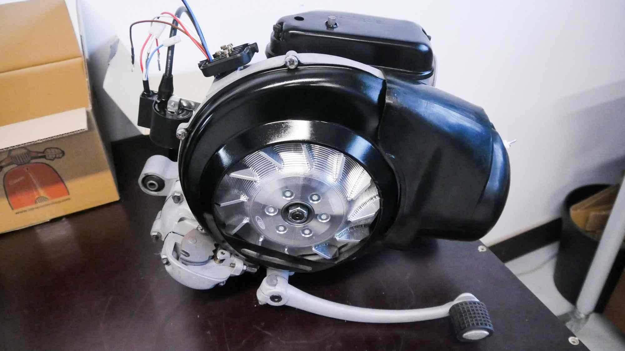 Vespa Sprint 150 Motor neu mit Glasperlstrahlen und Vape