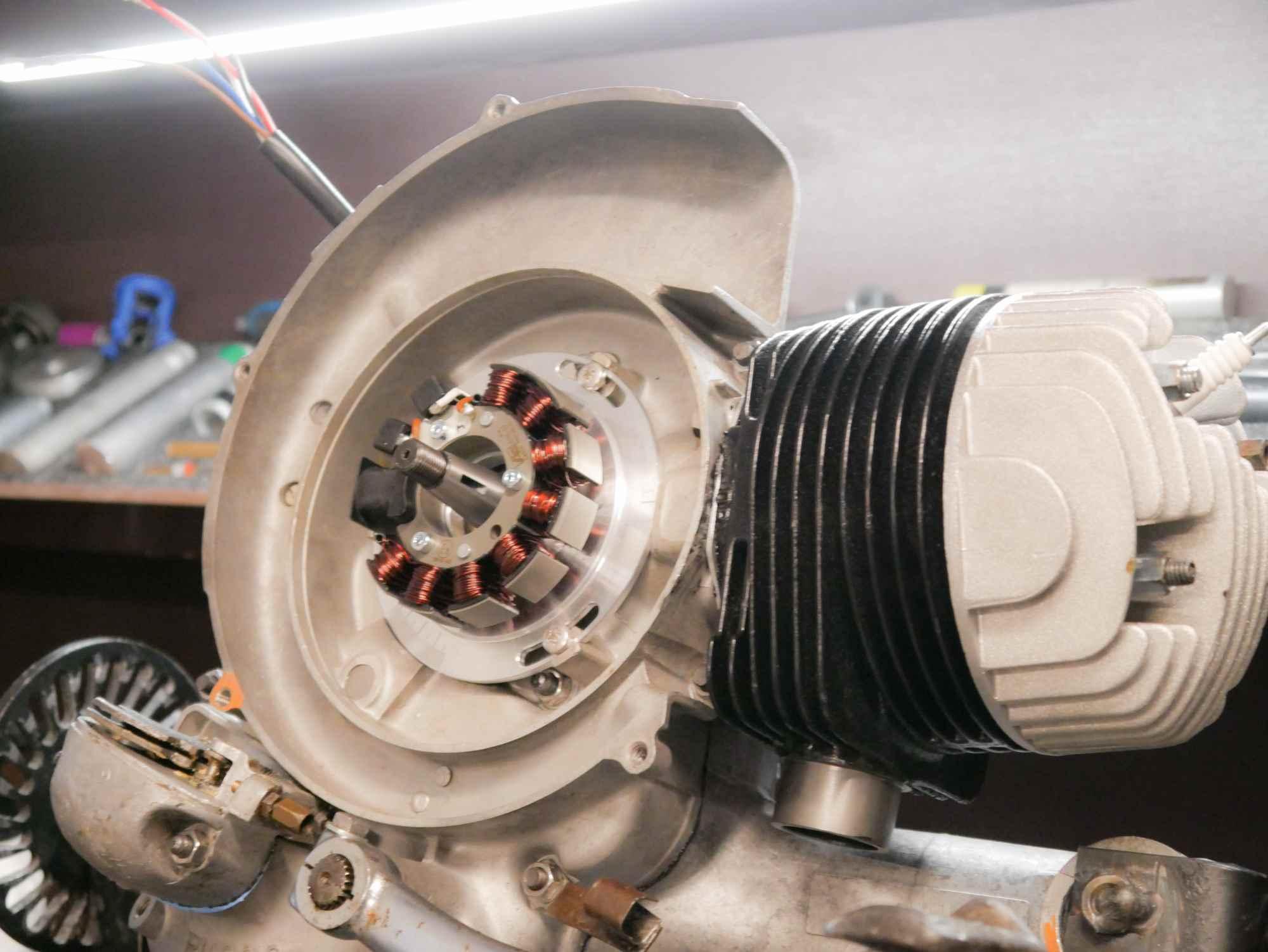 Vespa VBB Motor mit Vape Zündgrundplatte