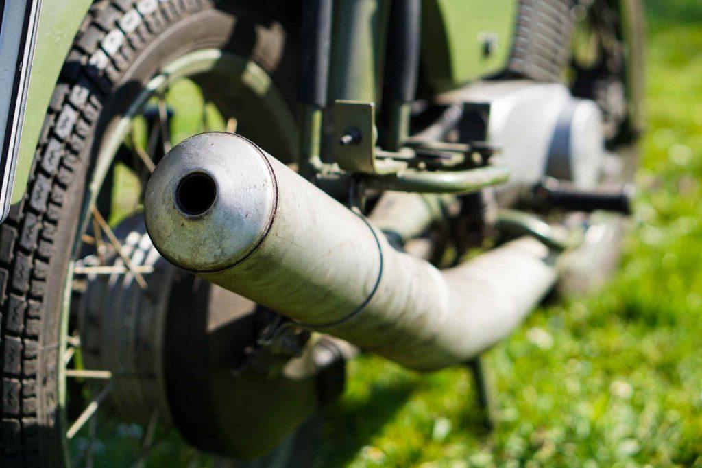 Auspuff MZ ETZ 250 A NVA Militär