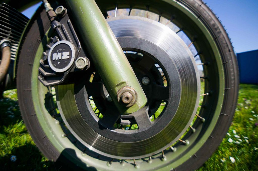 Bremsscheibe einer MZ ETZ 250