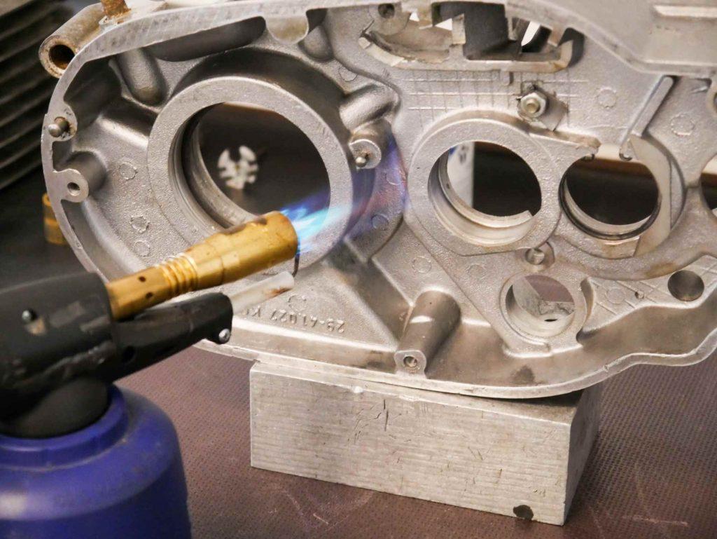 ETZ 250 Motorgehäuse erhitzen bei Motorregeneration