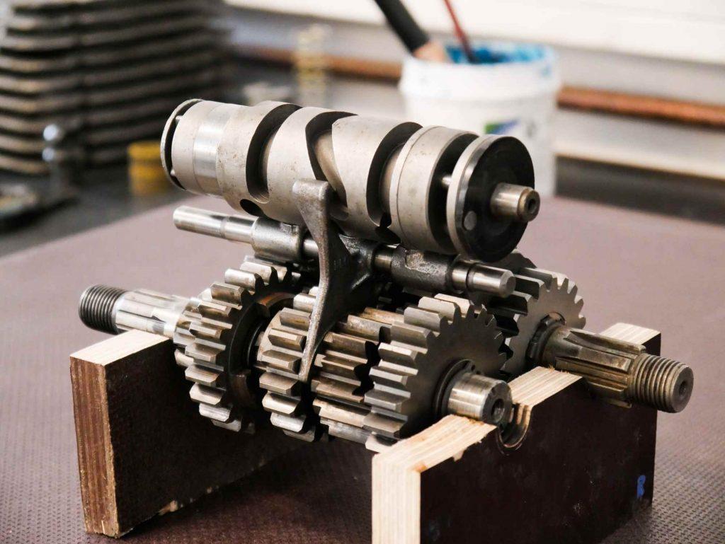 Komplettes Getriebe mit Schaltwalze für eine MZ ETZ 250