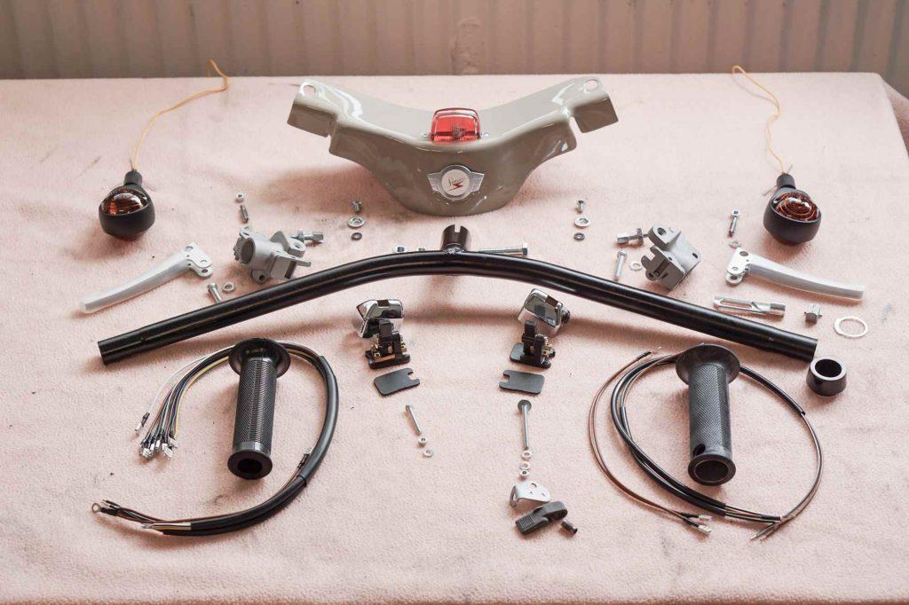 Lenker Einzelteile Simson SChwalbe KR51 bei Restaurierung