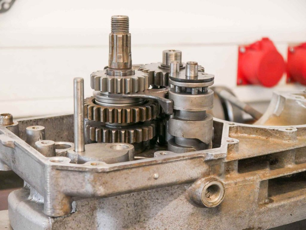 MZ ETZ 250 Getriebe während Motorregeneration