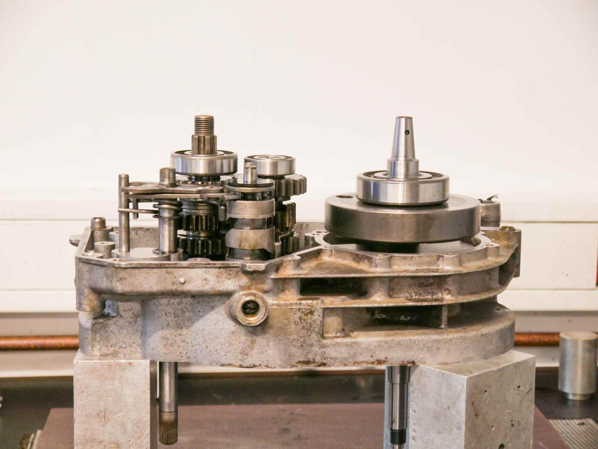 MZ ETZ 250 Motor während Regeneration