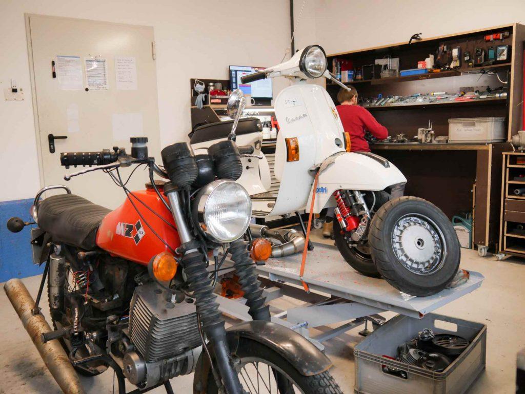 MZ ETZ 250 und Vespa PX80