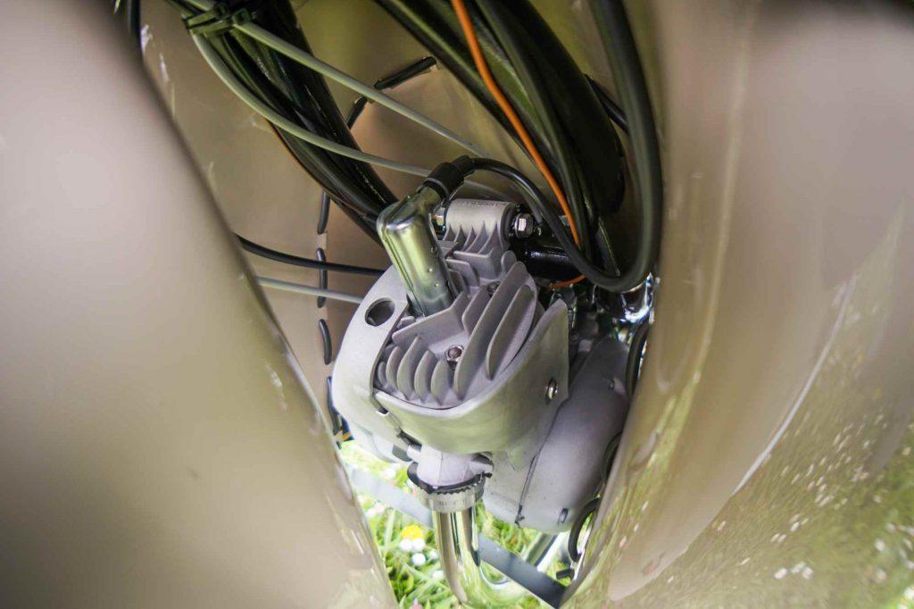 Motor im Rahmen eingebaut Simson Schwalbe KR51