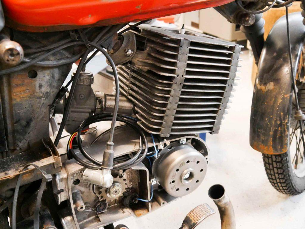 Motor in MZ ETZ 250