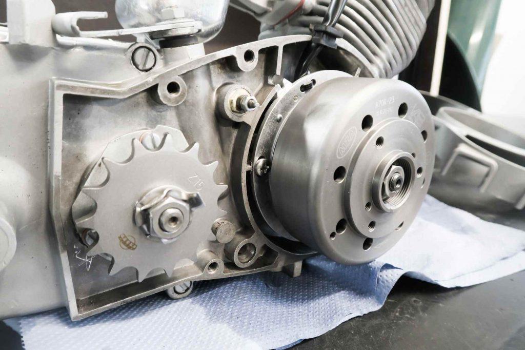Motor nach motorregeneration Simson Schwalbe KR51 mit Ritzel und Vape Zündung