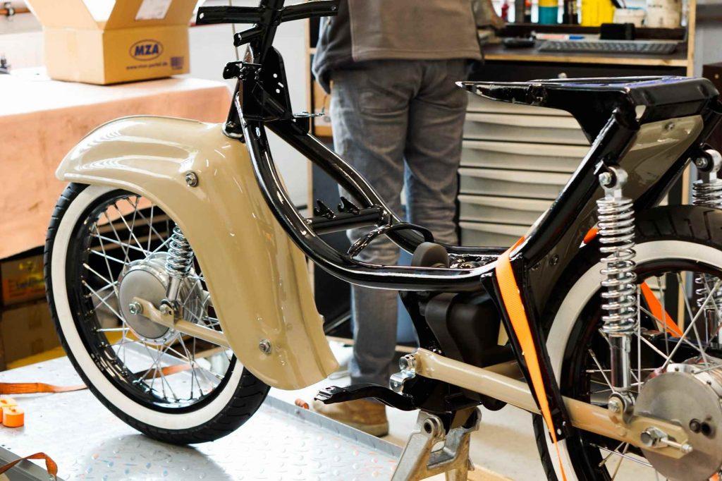 Simson Schwalbe KR51 Fahrwerk mit rädern komplett