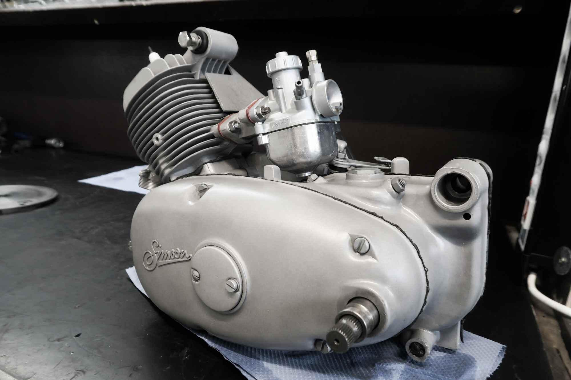 Simson Schwalbe KR51 Motor strahlen glasperlen nach Motor regeneration
