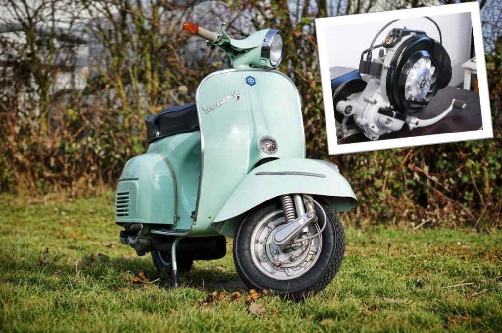 Vespa mit Motor als Titelbild für Motorrevision Vespa