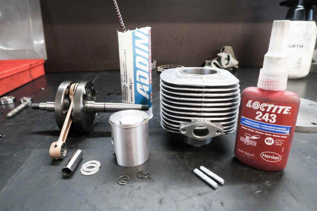 Zylinder 63 ccm mit Megu Kolben und Kurbelwelle für Simson Schwalbe KR51