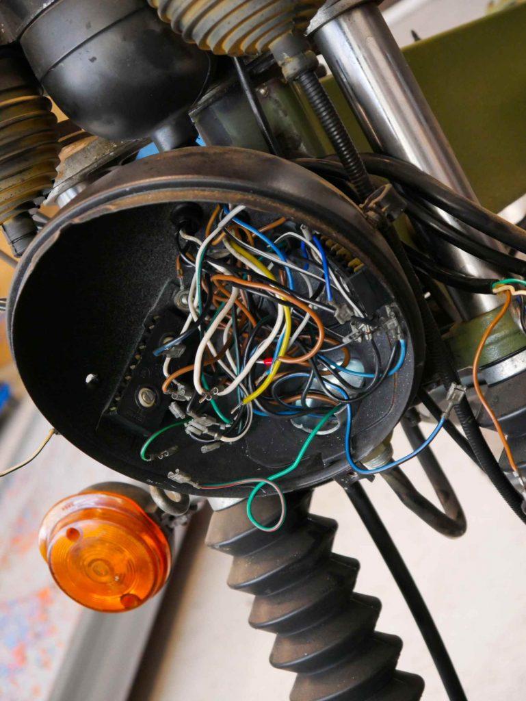 alte Kabel an einer MZ ETZ 250