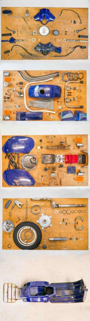 Alle Vespa PK 50 Einzelteile Rahmen
