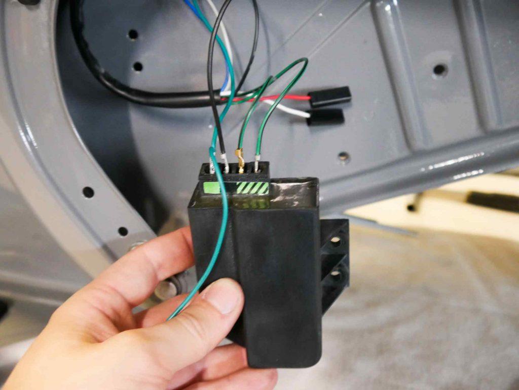 Hupengleichrichter verkabelt an Vespa PK 50